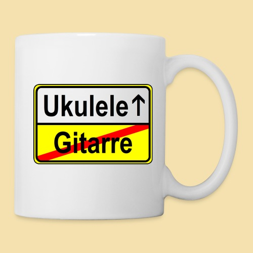 Ukulele vs. Gitarre (Ortsschild)