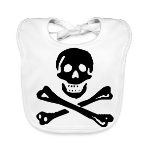 Baby Organic Bib - For pirate babys only