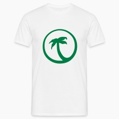 Weiß Palm T-Shirt