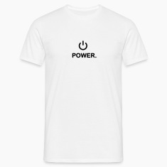 Weiß Power T-Shirt