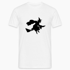 White Flying Witch T-Shirts