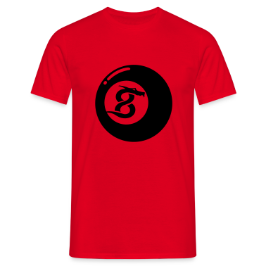 Red 8 Ball Dragon T-Shirts