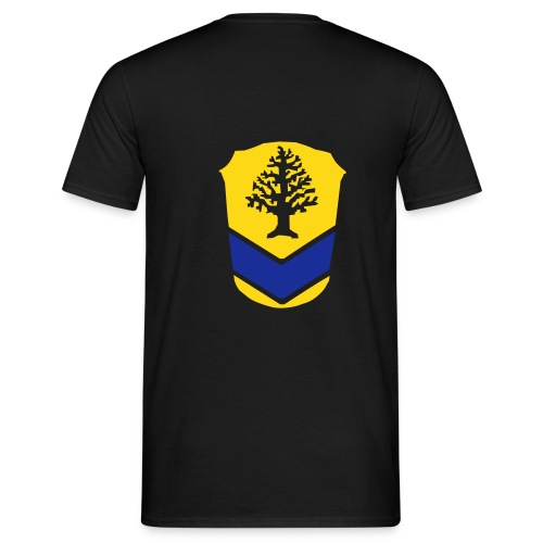 Tshirt schwarz, Rueckenwappen - Männer T-Shirt