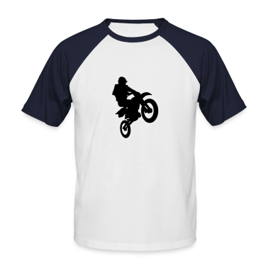 White/navy Motocross T-Shirts