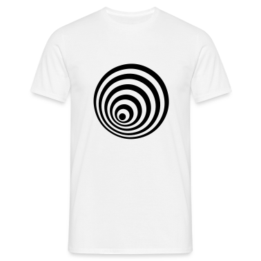 White ellipse T-Shirts