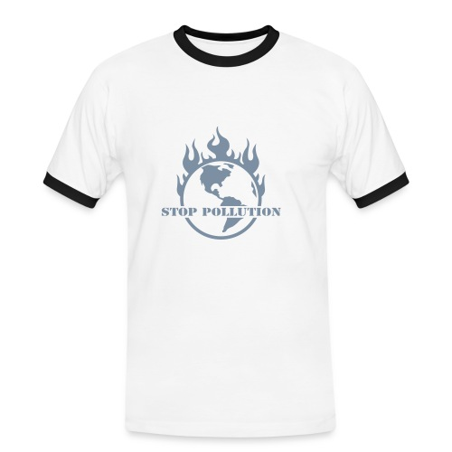 Stop Pollution - Men's Ringer Shirt
