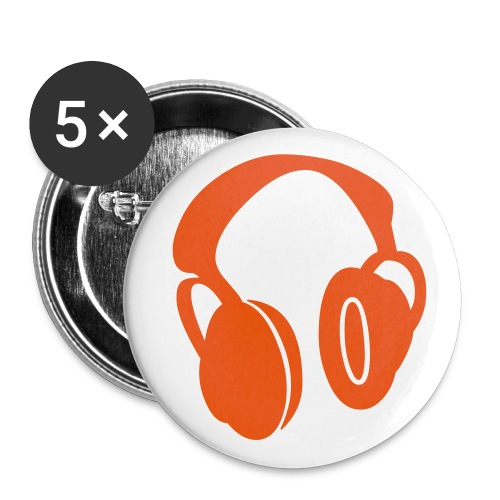 headphones red - Badge petit 25 mm