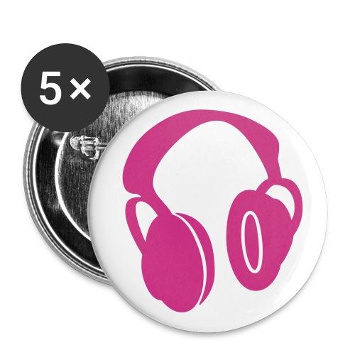 headphones pink - Badge petit 25 mm