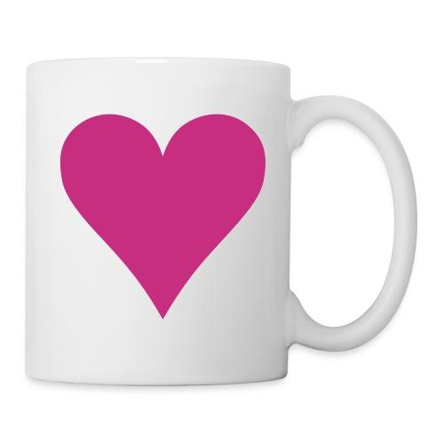 coeur - Mug blanc