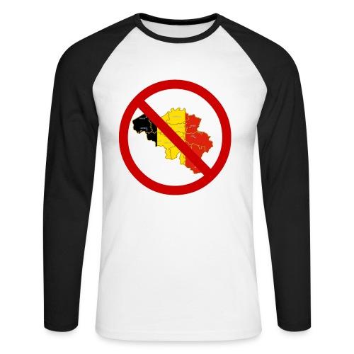 UMB Uniformskjorte langermet - Langermet baseball-skjorte for menn