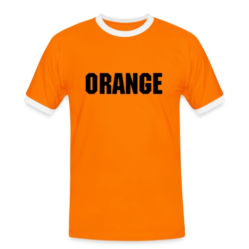 T-Shirt Orange Fanatic - Mannen contrastshirt