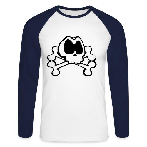 Pirate Skull - Langermet baseball-skjorte for menn