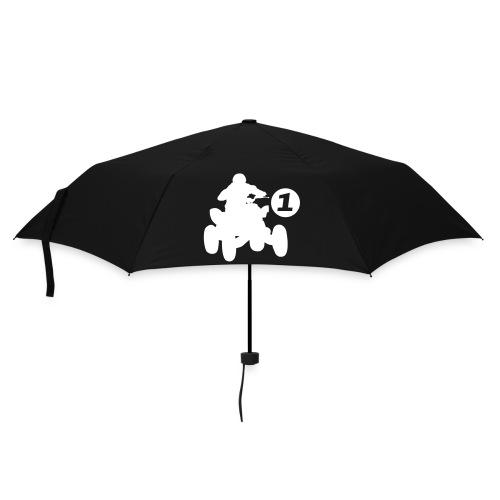 Paraplu (klein) - voor en achterkant tekening van quad