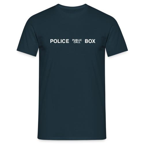 Police Box - Männer T-Shirt