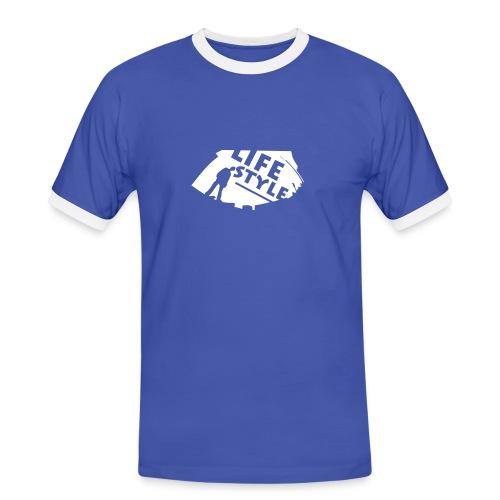 Life Style - Männer Kontrast-T-Shirt