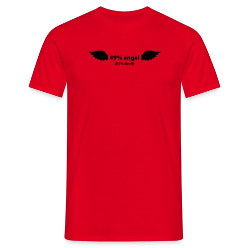 49% angel / 51% devil - Mannen T-shirt