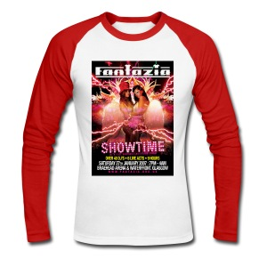 Fantazia Showtime Flyer T-shirt - Men's Long Sleeve Baseball T-Shirt