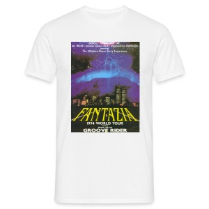 Fantazia World Tour featuring Grooverider - Men's T-Shirt