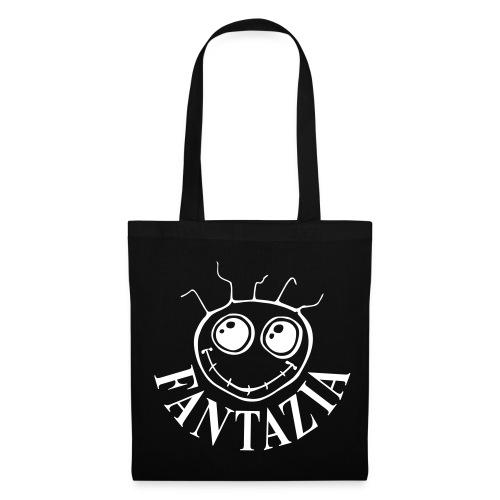 Fantazia Smiley Bag White Logo - Tote Bag