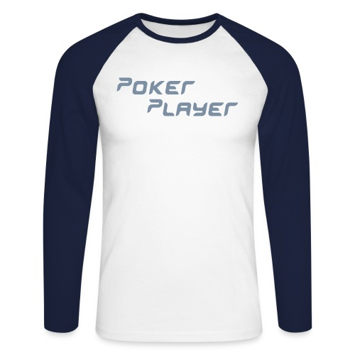 Poker Player - Langermet baseball-skjorte for menn