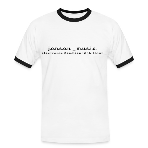 Shirt white/black  jonson_music - Männer Kontrast-T-Shirt
