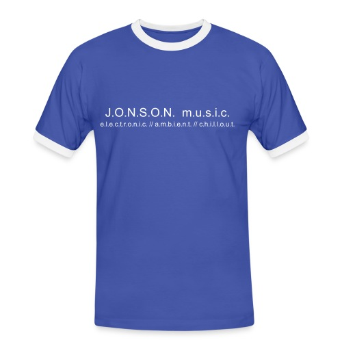 Shirt blue/white JONSON_music - Männer Kontrast-T-Shirt