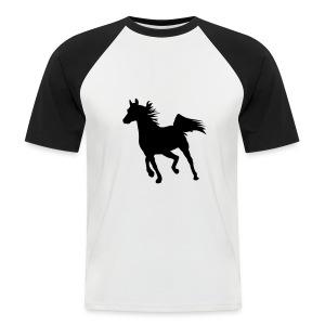 Motive-T-Shirt mit Pferd - Männer Baseball-T-Shirt