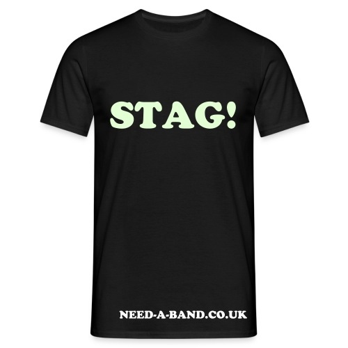 Stag! (Glow in the Dark T shirt) - Men's T-Shirt