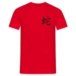 Chinesisches Zeichen, Horoskop Schlange - Männer T-Shirt