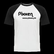 T-Shirts ~ Männer Baseball-T-Shirt ~ T-Shirt, weiß