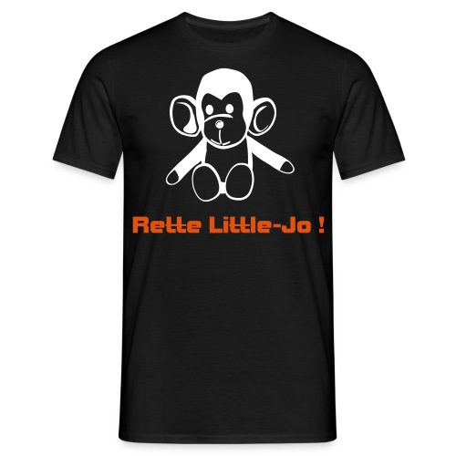 Rette-Little-Jo-Shirt black - Männer T-Shirt