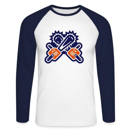 Bluza Jolly - piła - Koszulka męska bejsbolowa z długim rękawem