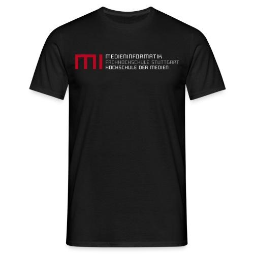 MI @ HdM (schwarz) - Männer T-Shirt