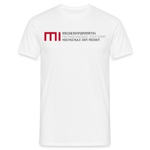 MI @ HdM (weiß) - Männer T-Shirt