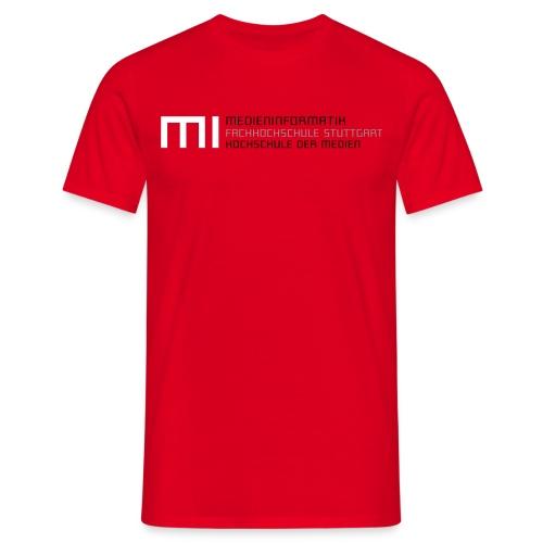 MI @ HdM (rot) - Männer T-Shirt