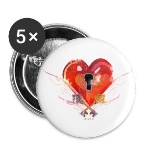 badge Coeur - Badge moyen 32 mm