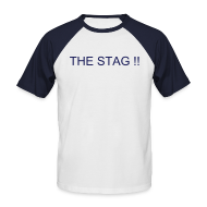 T-Shirts ~ Men's Baseball T-Shirt ~ Stag/Team T-shirt - Your Text Front & Back