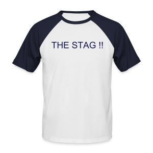 Stag/Team T-shirt - Your Text Front & Back - Men's Baseball T-Shirt