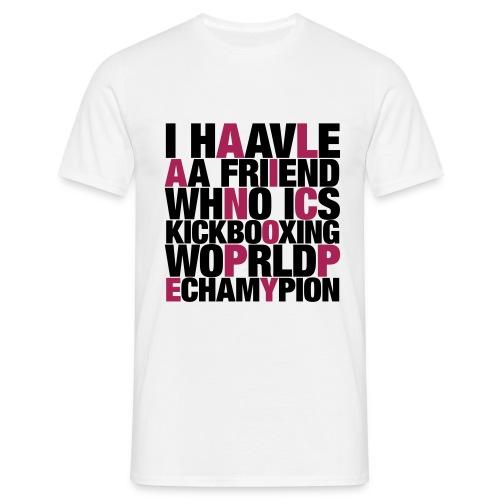 classic noir-magenta man - T-shirt Homme