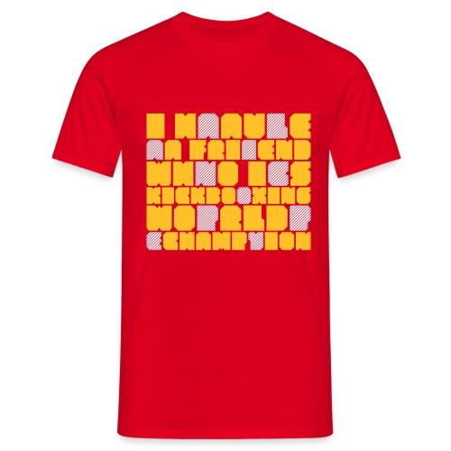 design2 orange-blanc man - T-shirt Homme