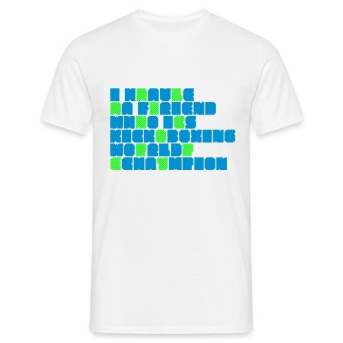 design1 bleu-vert man - T-shirt Homme