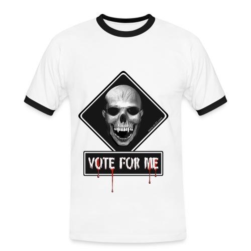 vote for me  - T-shirt contrasté Homme