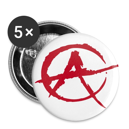 Badges Anarchie  - Lot de 5 grands badges (56 mm)