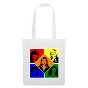 Spice Girls Pop Art (White Shopping Bag) - Tote Bag