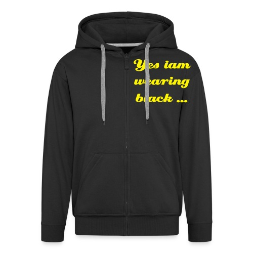 No Goth Hoddie! - Men's Premium Hooded Jacket