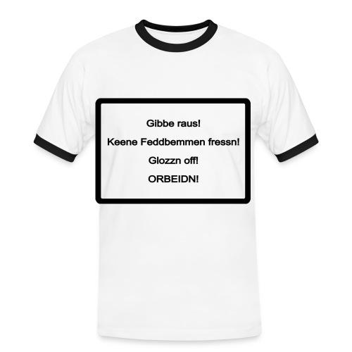 Sächsische Arbeitsmoral - Männer Kontrast-T-Shirt