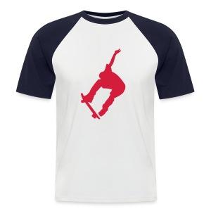 T-Shirt mit Skateboarder-Motiv - Männer Baseball-T-Shirt