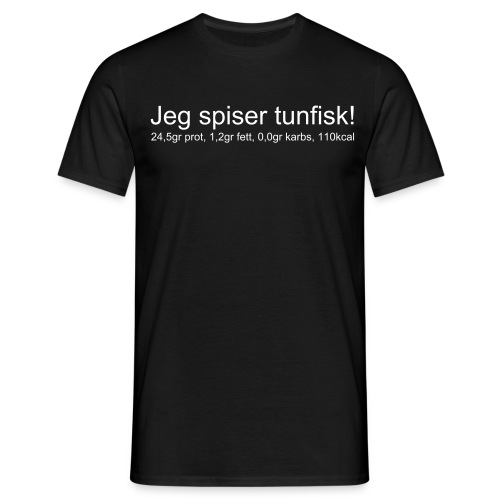 Tunfisk sort - T-skjorte for menn