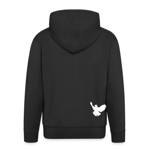 hoodie mit weißer taube - Männer Premium Kapuzenjacke
