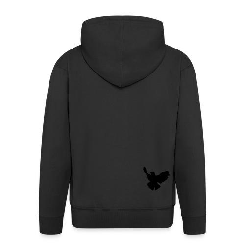 hoodie mit schwarzer taube - Männer Premium Kapuzenjacke